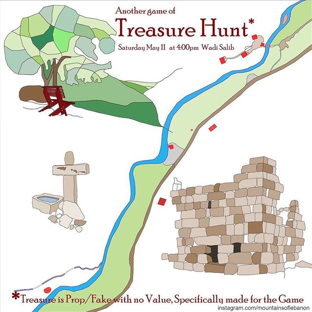 Saturday May 11, Join in for a Treasure Hunt (Only a Game)! riddle ... (Wadi El Salib - Kfardebian)