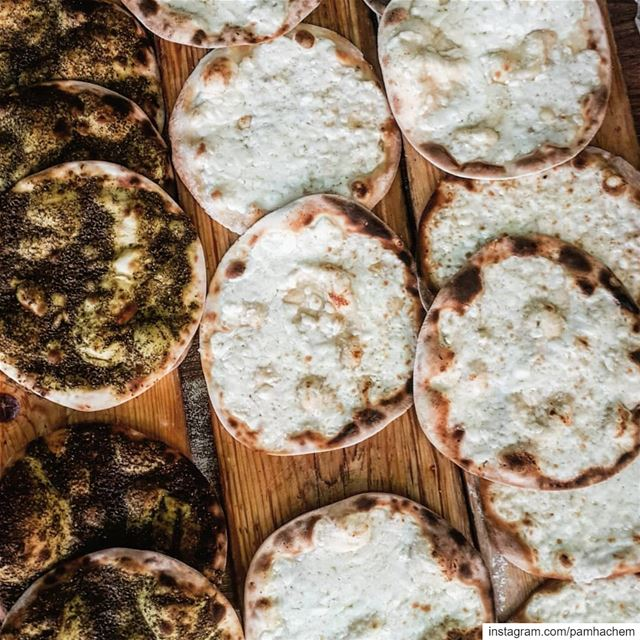 Zaatar or Cheese Man'ouche??* Manakeesh are a very popular in  Lebanon... (Beirut, Lebanon)