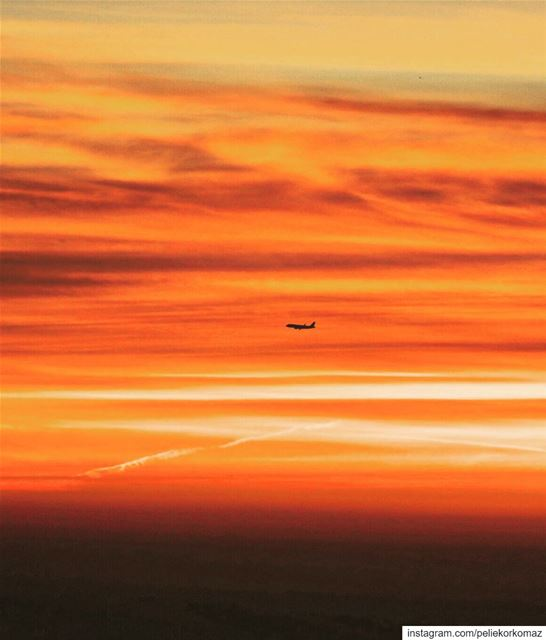The sky takes on shades of orange during sunrise and sunset, the colour... (Lebanon)