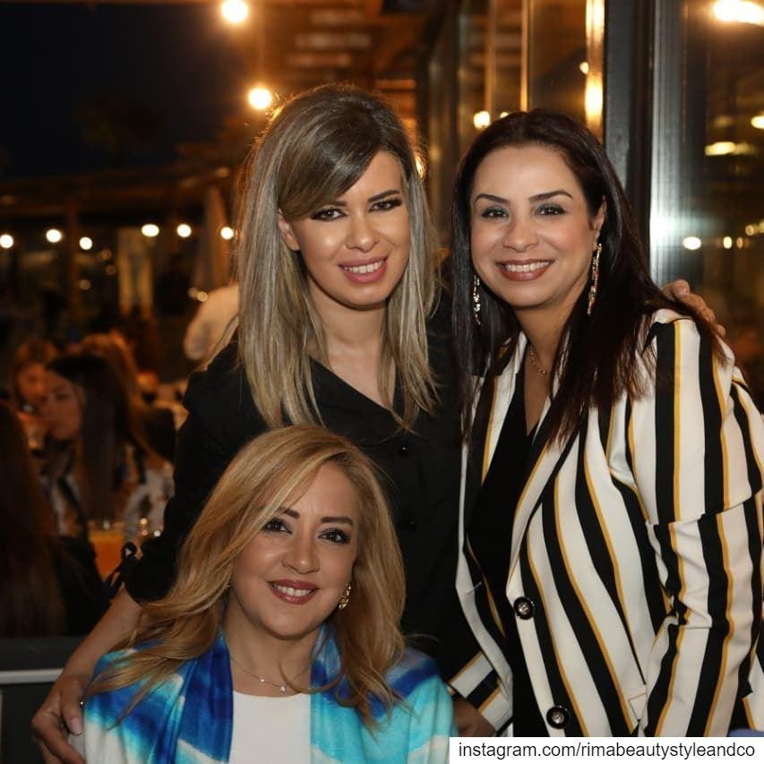 With beautiful ladies at rivierabeirut IftarAuGrosSel ...