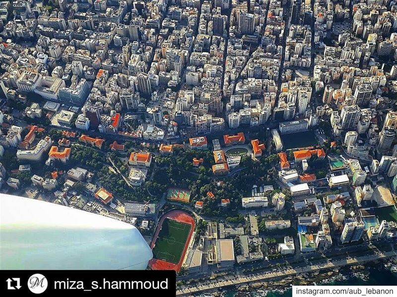 AUB campus from Above ✈️ Repost @miza_s.hammoud liveloveaub ...