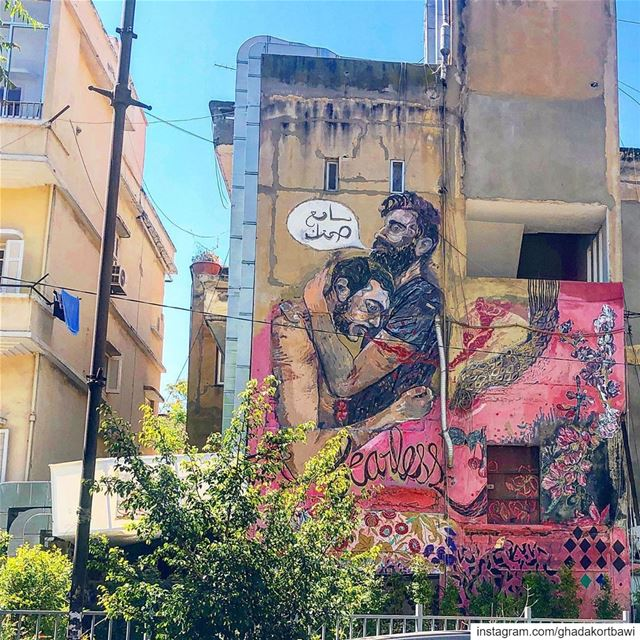 Walls speak louder than words.... liveandletlive wallart mural ... (Sassine, Achrafieh)