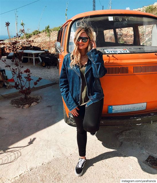 Wild thing 🐯🧡 YaraLivingLife ... orange  volkswagen  vintage  summer... (Haven - The cabin)