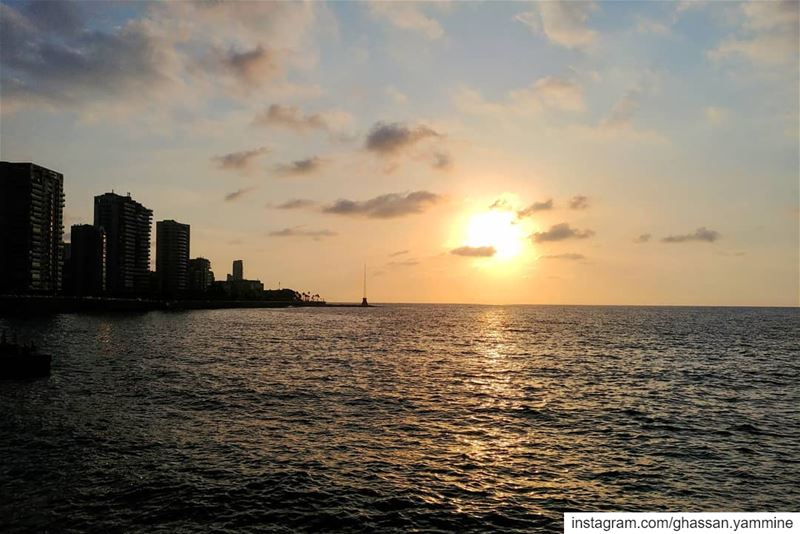 Sunset in Beirut...By Ghassan_Yammine sunset_vision sunset_hub ... (Beirut, Lebanon)