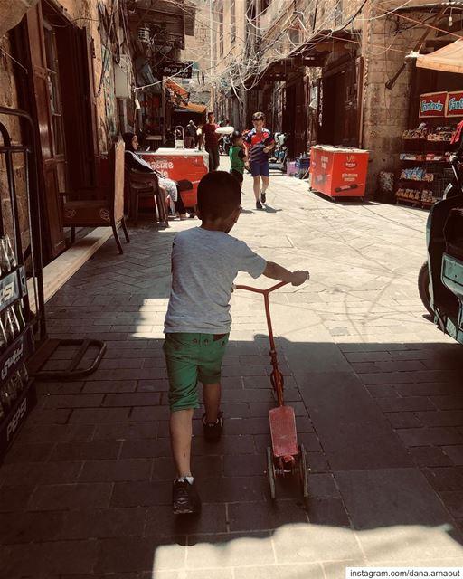 • Leaving • streetstyle bike saida sidon kids old town souks ... (Saïda, Al Janub, Lebanon)