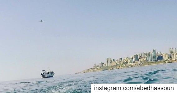 When CANA, our scientific boat, sails offshore Beirut ............. (Beirut, Lebanon)