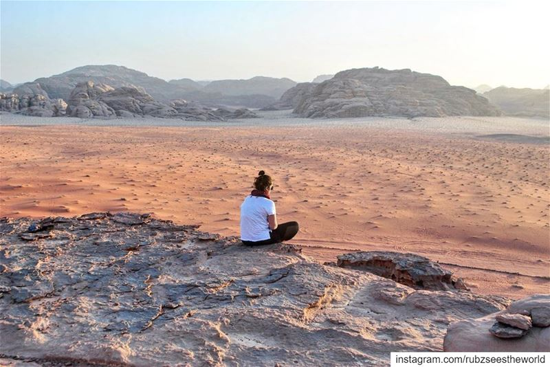 Wadi Rum, Jordan: the silence was so loud, and sunset so beautiful.I kept... (Wadi Rum, Jordan)