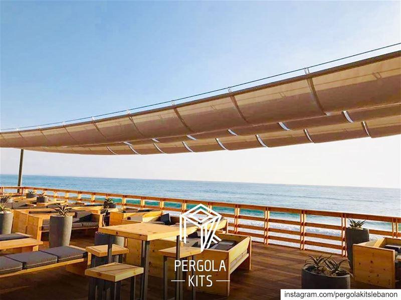 Creative Beach Resort Fabric Shades☀️ PergolaKitsLebanon PergolaKits ...