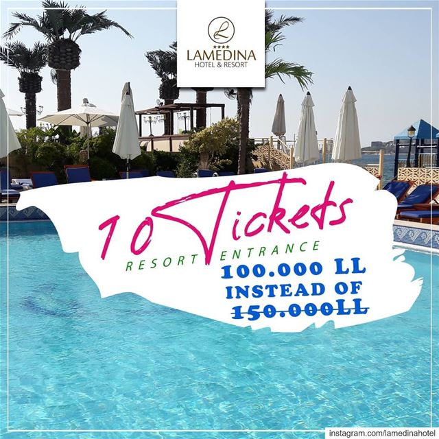 Save big! Limited time offer available at @lamedinahotel Jounieh Buy 10...