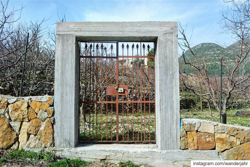 Please use the door! nature hiking trail lebstory lebanontraveler ... (Afka, Mont-Liban, Lebanon)