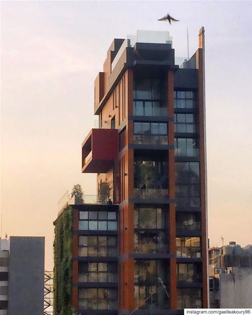 Good morning ☀️ architecture modernarchitecture greenarchitecture ... (Mar Mikhael-Armenia The Street)