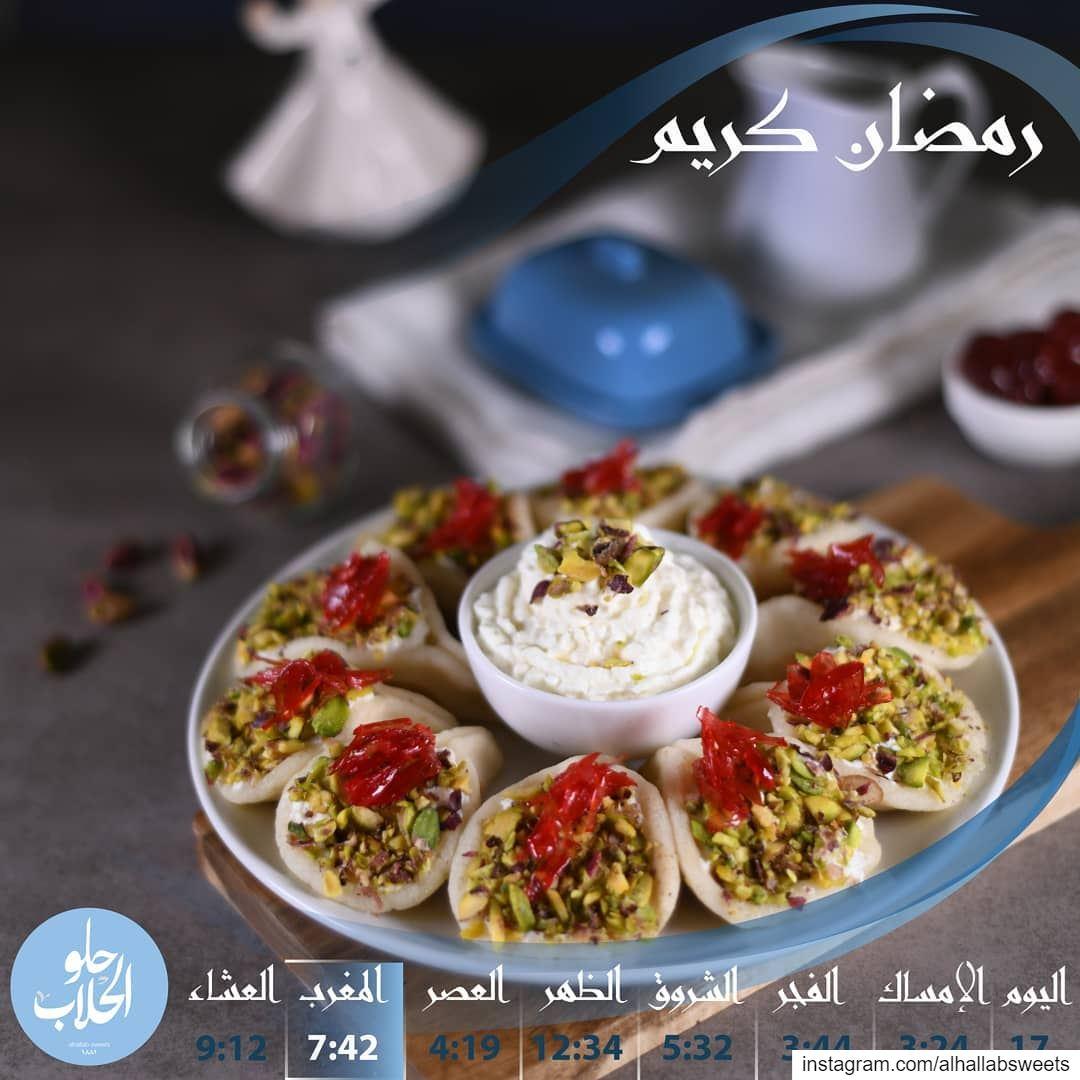 رمضانكم احلى مع القطايف العصافيري بالقشطة الطازجة من حلو الحلاب ولا_اطيب_م (Abed Ghazi Hallab Sweets)