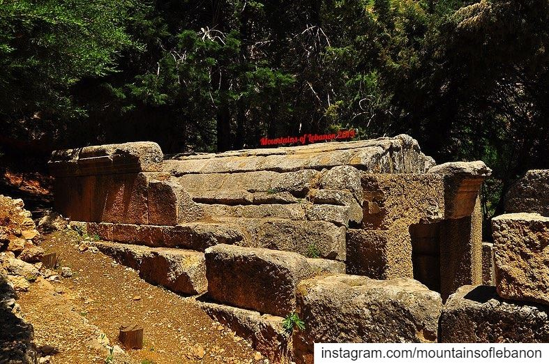 The lesser known Temples of the Bekkaa!This is a sanctuary for a water... (Temnîne El Faouqa, Béqaa, Lebanon)
