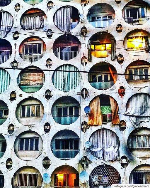 Circles ⭕️⭕️⭕️ livelovearchitecture ....... Lebanon Beirut ... (Beirut, Lebanon)