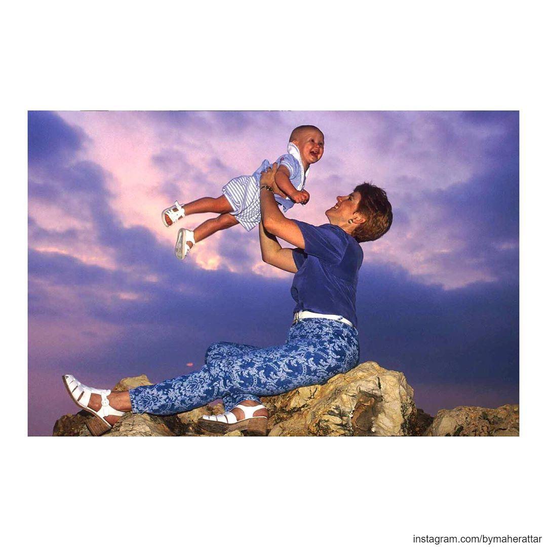 Beirut 1996, Tracy Chamoun with her child Alexandre-Dany. lebanon ... (Lebanon)