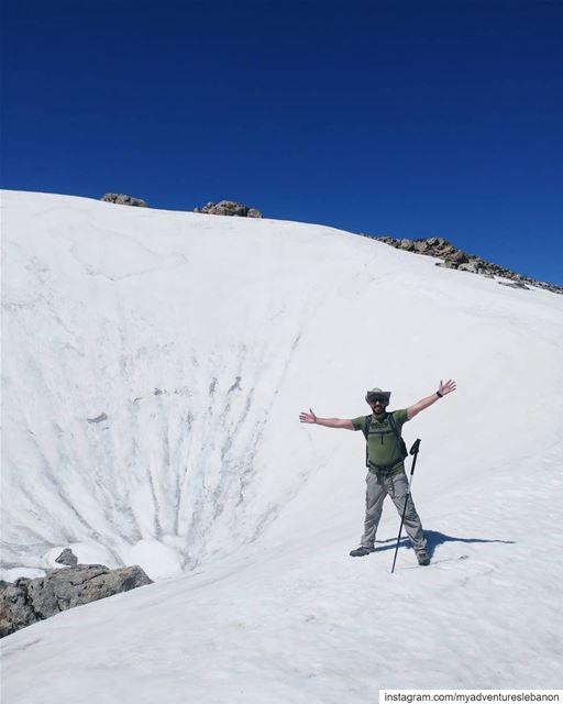 Snow ball meteor crater 😱😍 myadventureslebanon mountaineering ... (Lebanon)
