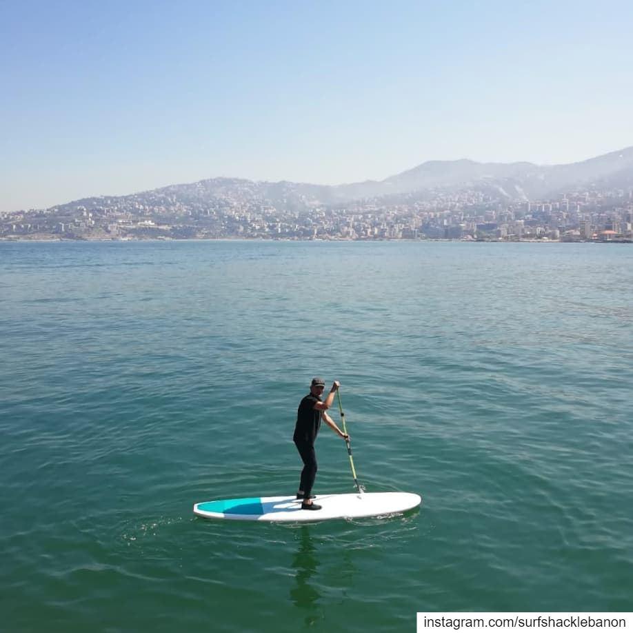 Off to work 💼 beating the traffic 😅..... sup work sea traffic ... (Lebanon)