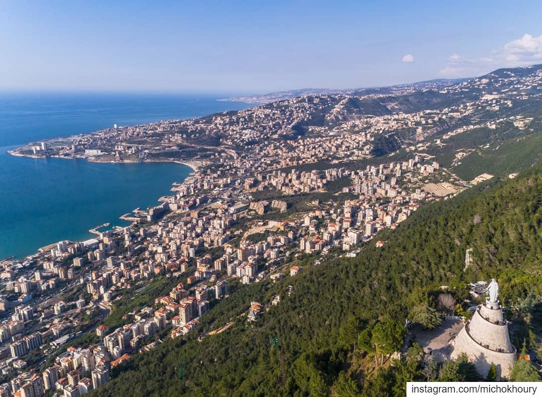 Our Lady of Lebanon pray for us .... Lebanon fromwhereidrone ... (Our Lady of Lebanon)