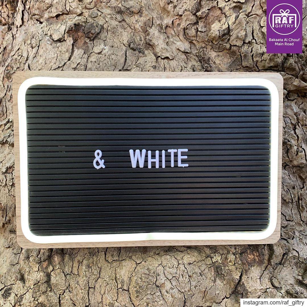 Black & White 🔳 raf_giftry.......... blackandwhite board ... (Raf Giftry)