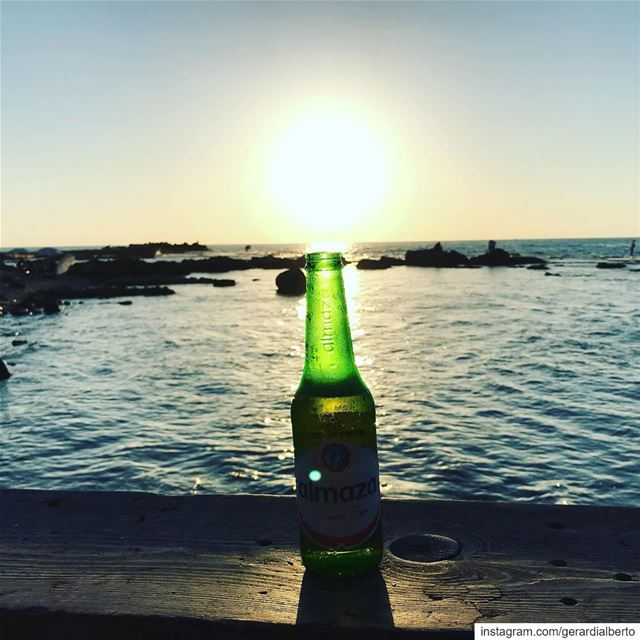 tyr صور southerngovernorate lebanon sour sunset almaza beer ... (مدينة صور - Tyre City)