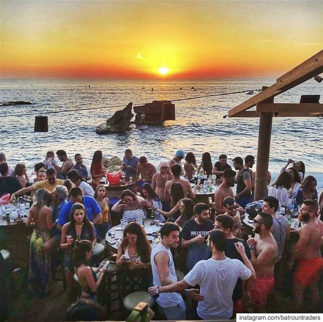batroun  thoum  البترون_سفرة  sunset  beach  sea  mediterraneansea ... (Pierre & Friends)