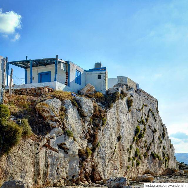 Blue life on rocks! 💙 lebstory lebanontraveler lebanonbyalocal ... (Anfeh, Lebanon)
