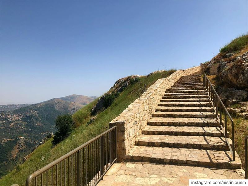 The Great Wall of Determination  jnoub_lebnen  قلعة_الشقيف  lebanon ... (Beaufort Castle, Lebanon)