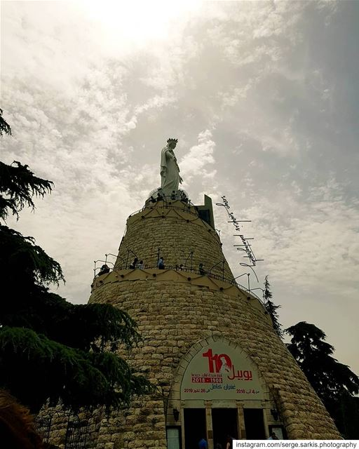 nofilter ☁️. sergesarkisphotography photo  photographer  photography ... (The Lady of Lebanon - Harissa)
