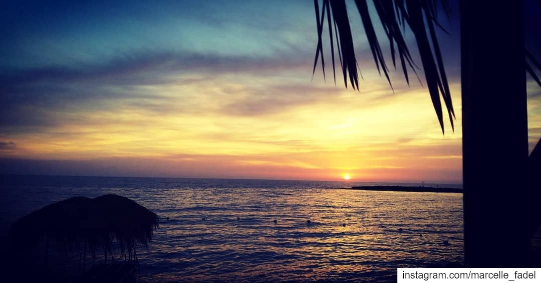 """""""Everything will come to an end eachday"""" hopeforabettertommorrow sunset... (Crystal Blue Beach Resort)"""