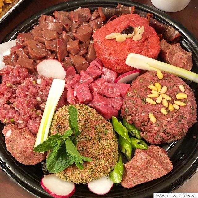 Kibbeh Nayeh, tartare of Lebanon, is specially prepared spiced raw meat... (Laval, Quebec)
