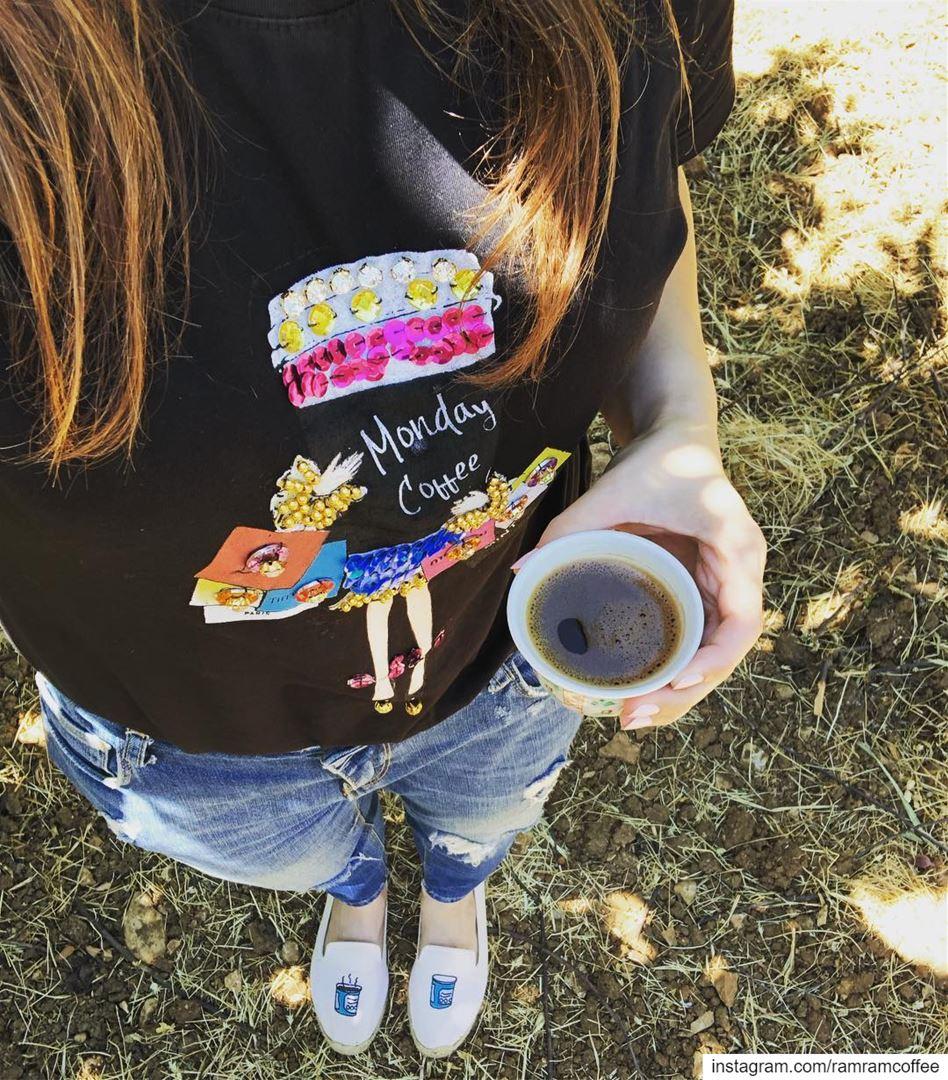 Monday coffee 😎☕️ goodmorningcoffeelovers......... ramramcoffee ... (West Bekaa)