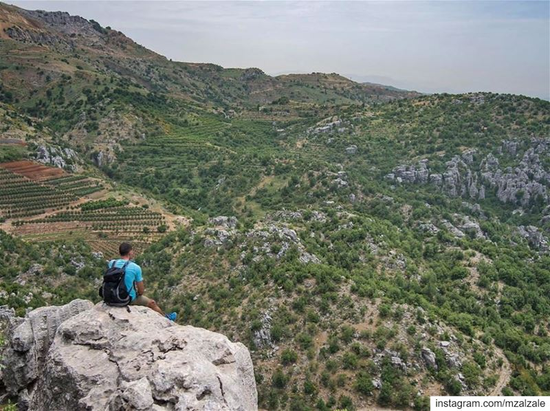 Admiring the Lebanese desert. Hiking Mountains Wanderlust Outdoors ... (Jabal Moussa Biosphere Reserve)