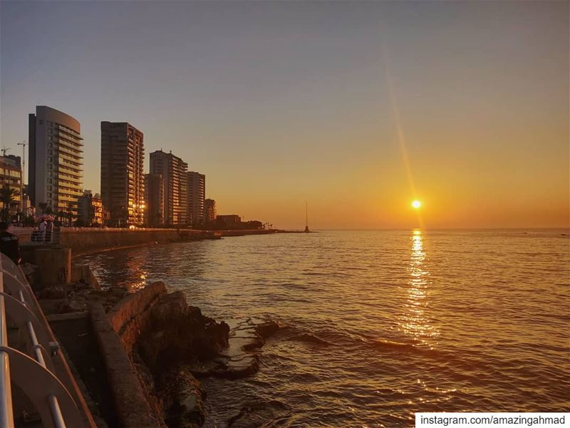 These sunsets never get... (Manara Beyrouth)