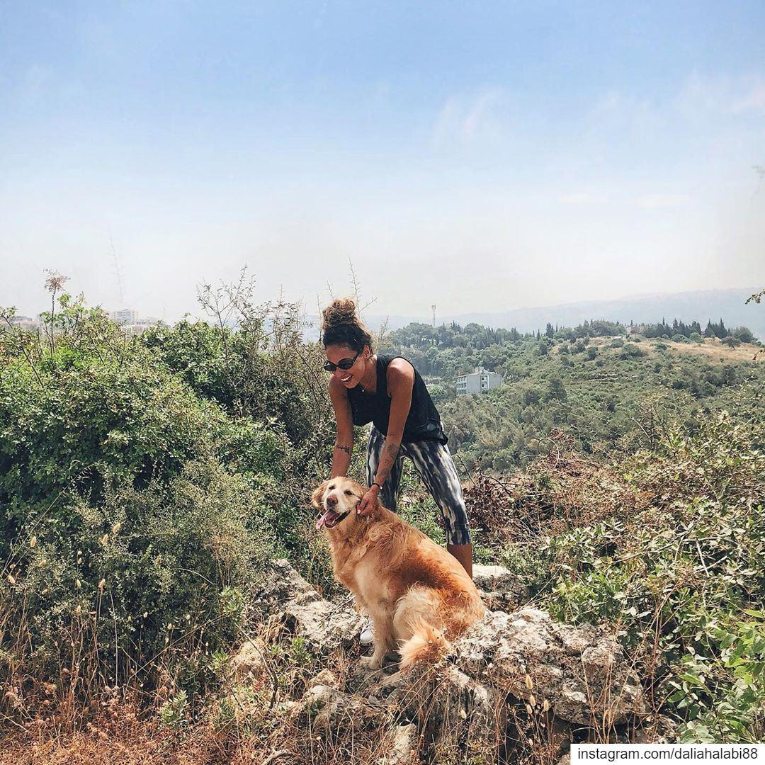 Retrieve gold please 🐶 .............. hike hiking nature ... (Beirut, Lebanon)