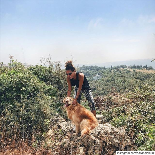 Retrieve gold please 🐶 .............. hike  hiking  nature ... (Beirut, Lebanon)