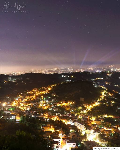 City Lights ✨... Hseiki  Lebanon  beirut  nature  night ... (Baïssoûr, Mont-Liban, Lebanon)