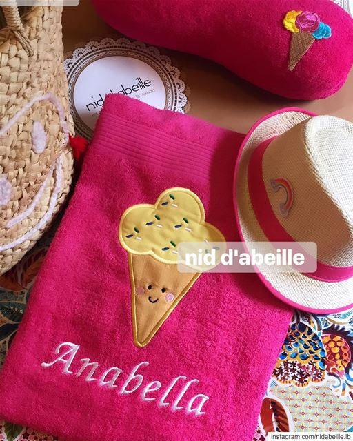 Summertime 🍉🍦🍓Write it on fabric by nid d'abeille  beach  sea  sun ...