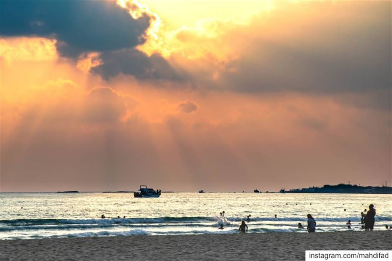 Sunset Beirut clouds beach lebanon aunraus Pysglb Nature Landscape... (Tyre, Lebanon)