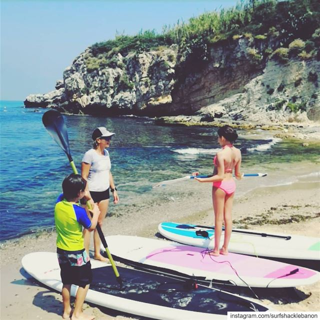 Teaching the little munchkins SUP and how to...... .. children sup... (Halate Sur Mer)
