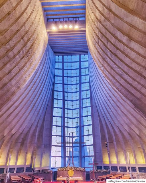 Underrated architecture and capturing the Virgin Mary through the glass... (Lebanon)