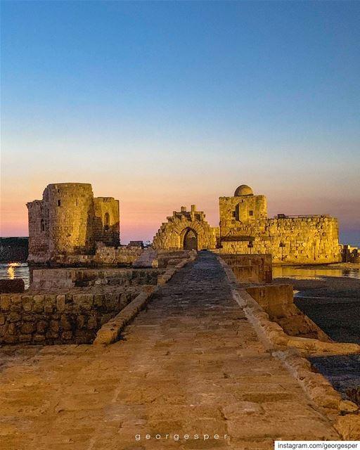 The Crusader Sea Castle built in the Thirteenth Century • Saida Lebanon 🇱� (Sidon, Lebanon)