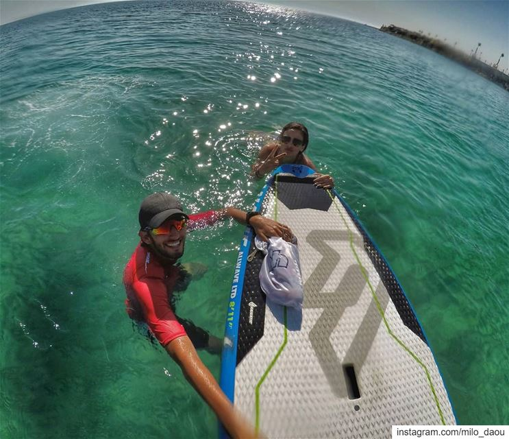 Finding friends with the same mental disorder. 🏄🌊 priceless! sup ... (Batroûn)