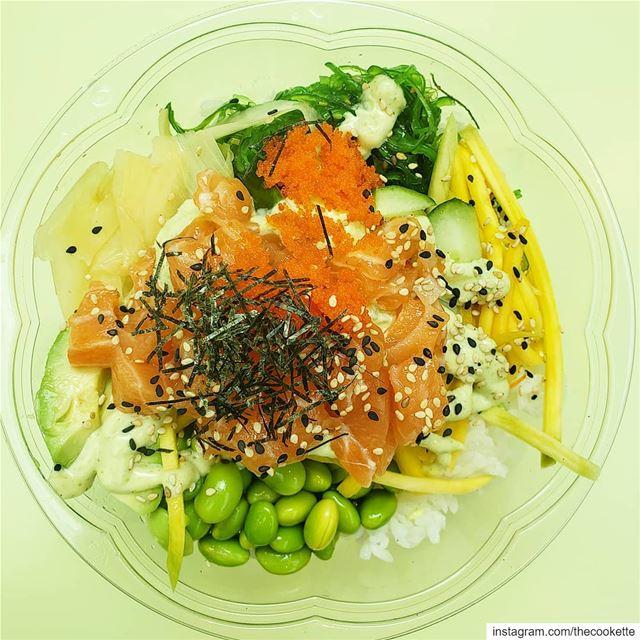 Who's a fan of Poke bowls ?Salmon Poke🍣🍚 thecookette montreal ... (Ryu)