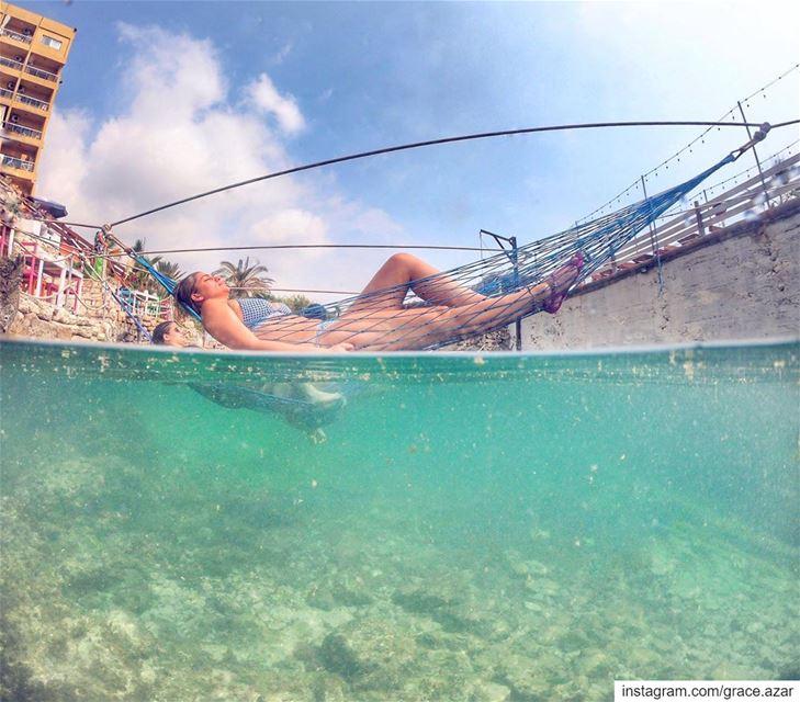 Un pò di Relax non fa male a nessuno.Checking out @junglebeachlb located... (Jungle Beach Amch)
