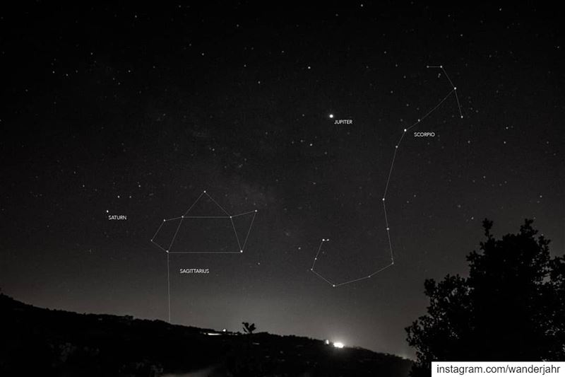 .My first Constellation Chase! 💙 22 June 2019.Scorpio/Jupiter/Saturn/Sagi (Feitroun, Mont-Liban, Lebanon)