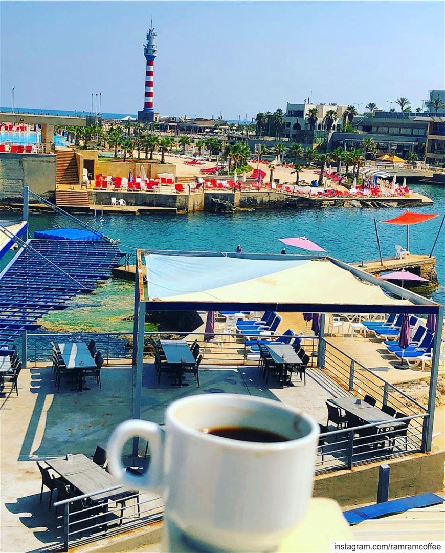صباح القهوة من قلب رأس بيروت... ramramcoffee turkishcoffee ... (Ra'S Bayrut, Beyrouth, Lebanon)