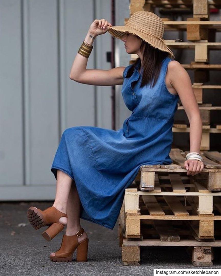 Many jeans dresses available SS19 👖👗@sketchlebanon DailySketchLook 622... (Er Râbié, Mont-Liban, Lebanon)