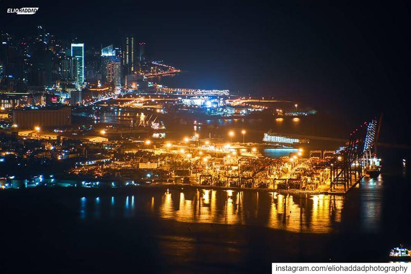 Lebanon Beirut 🇱🇧 🌆 City Lights Colors Buildings Port Traffic ... (Beirut, Lebanon)