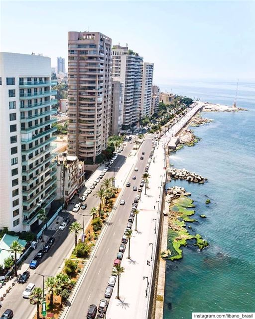 🇱🇧🇧🇷 O convidativo calçadão à beira mar de Beirute (Corniche) para... (Corniche El Manara)