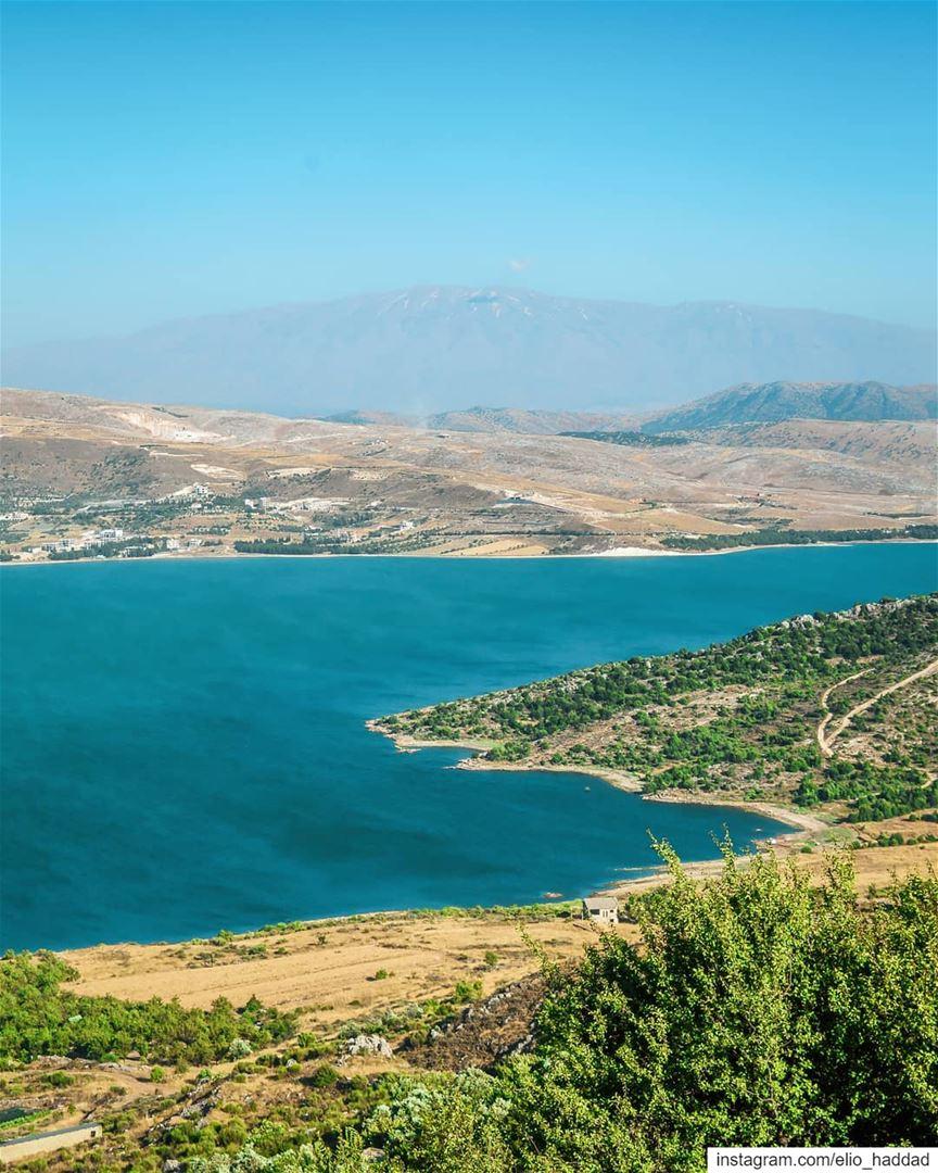 Lebanon 🇱🇧 Qaraoun Nature Sky Colors Mountain Green Wonderful ... (El Qaraoun, Béqaa, Lebanon)